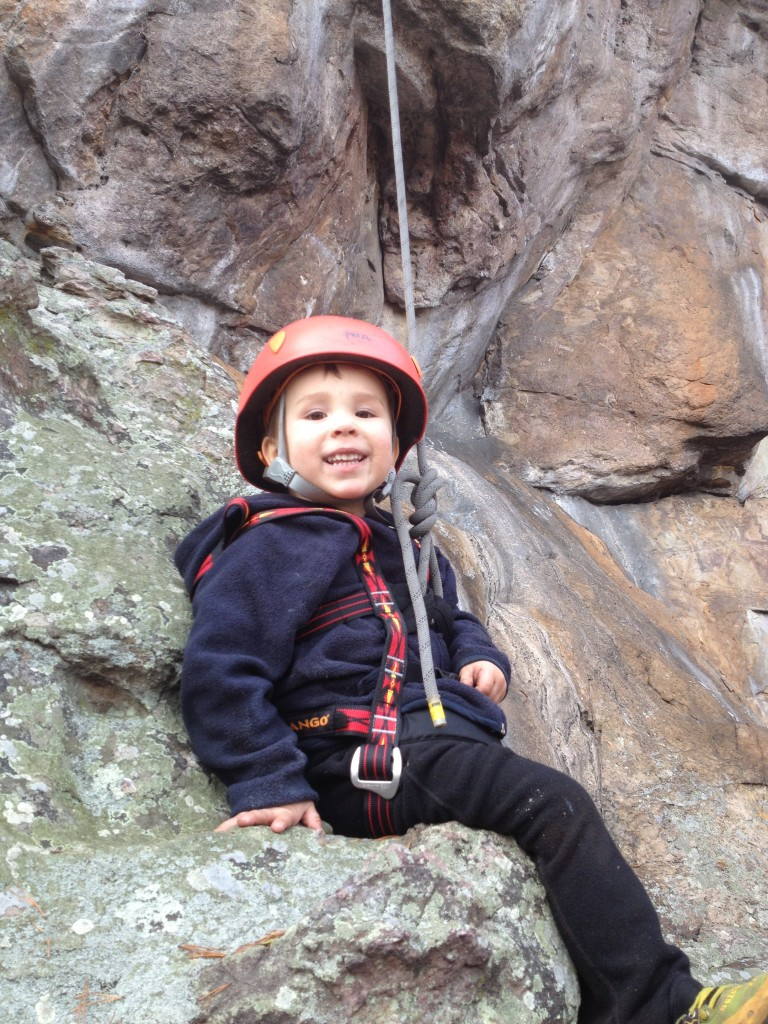 Cragbaby on belay!
