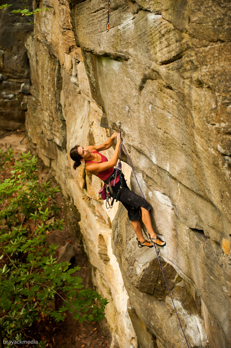Fall photo shoot from Lost Souls (5.12a)