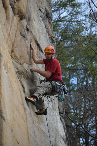 The Crag-Dad climbed AWESOME this weekend...Here he is on Flash Point (5.11d)