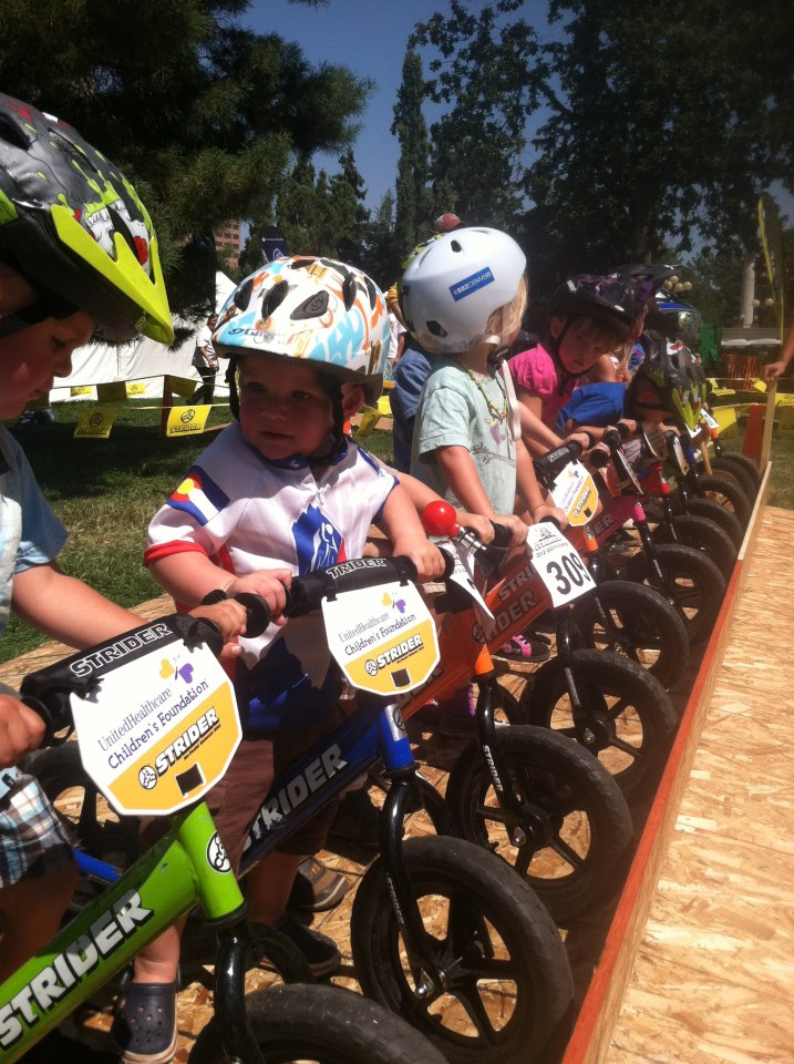 "Axel at his first ""bike race."""