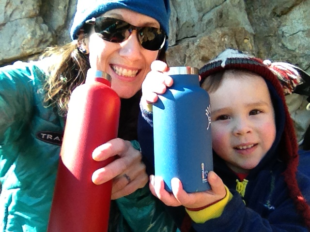 All smiles with our Hydro Flasks on a chilly afternoon at the crag!