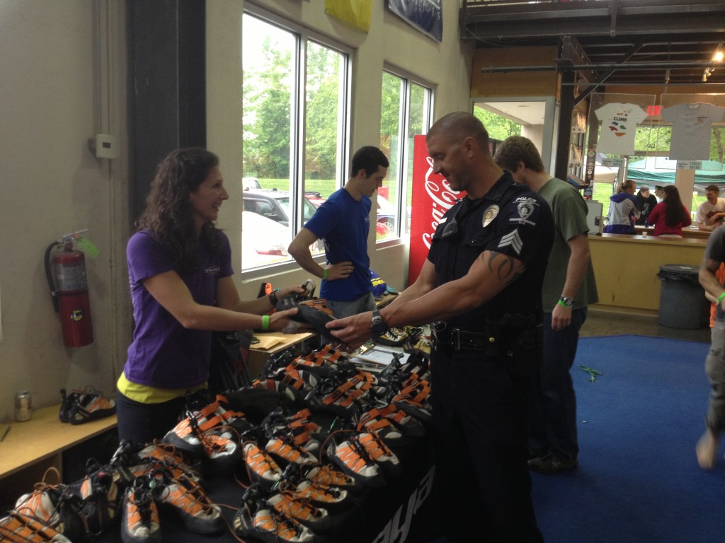 Tenaya demo was a hit! And even Officer JD stopped by for a look!