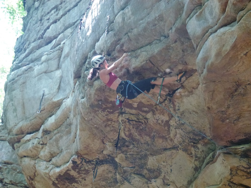 Last moves out the roof of Tiggers and Airplanes (5.11d)