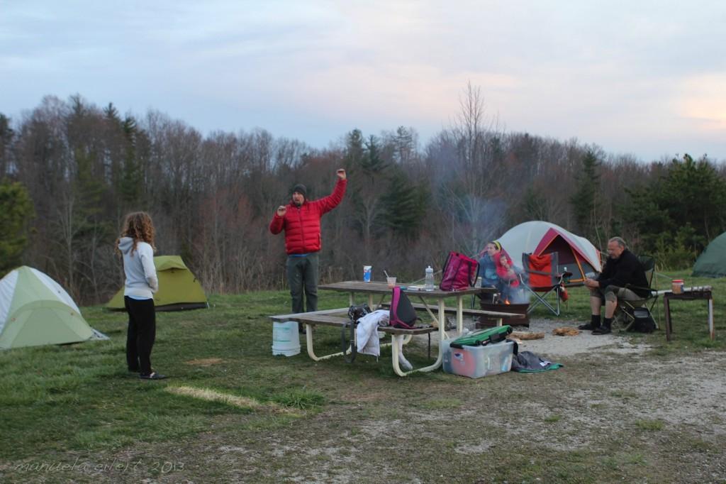 Beta re-enactment at LOTA campground.