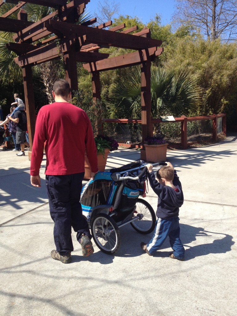 The Chinook in stroller mode (and toddler push mode...) at the Columbia Zoo.