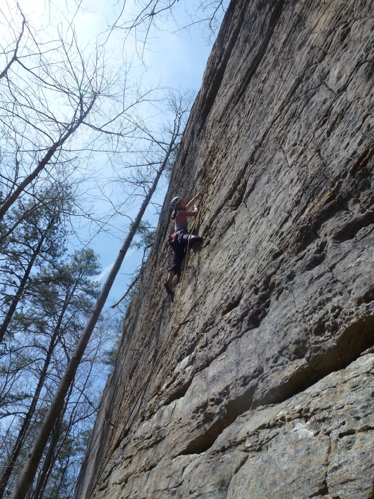 Working out the beta on Posse Whipped (5.12a)