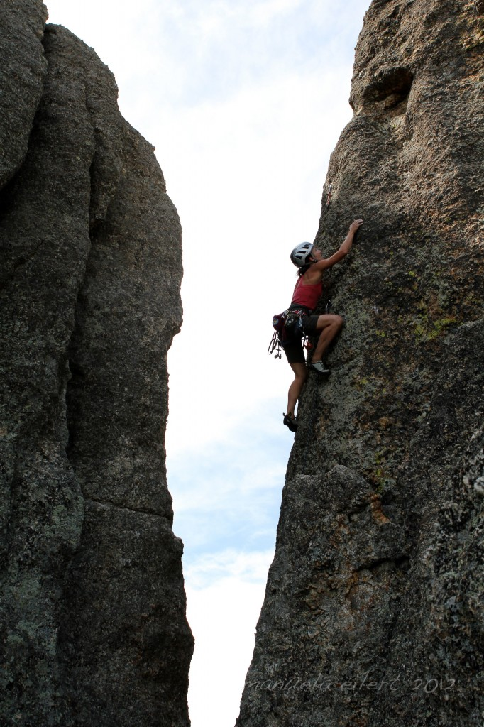 The runout head games in The Needles of South Dakota is the definition of this mantra!