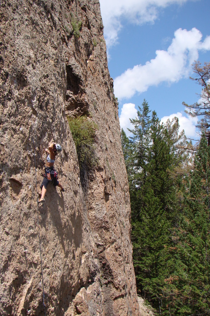 An oh-so-close onsight attempt at Toasted Cracker (5.11d) in Ten Sleep, WY ended with one wrong hold choice near the anchors...thankfully it went easily second go.