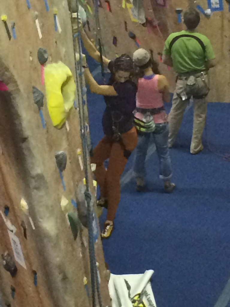 Slave to the auto-belay at 26 weeks.