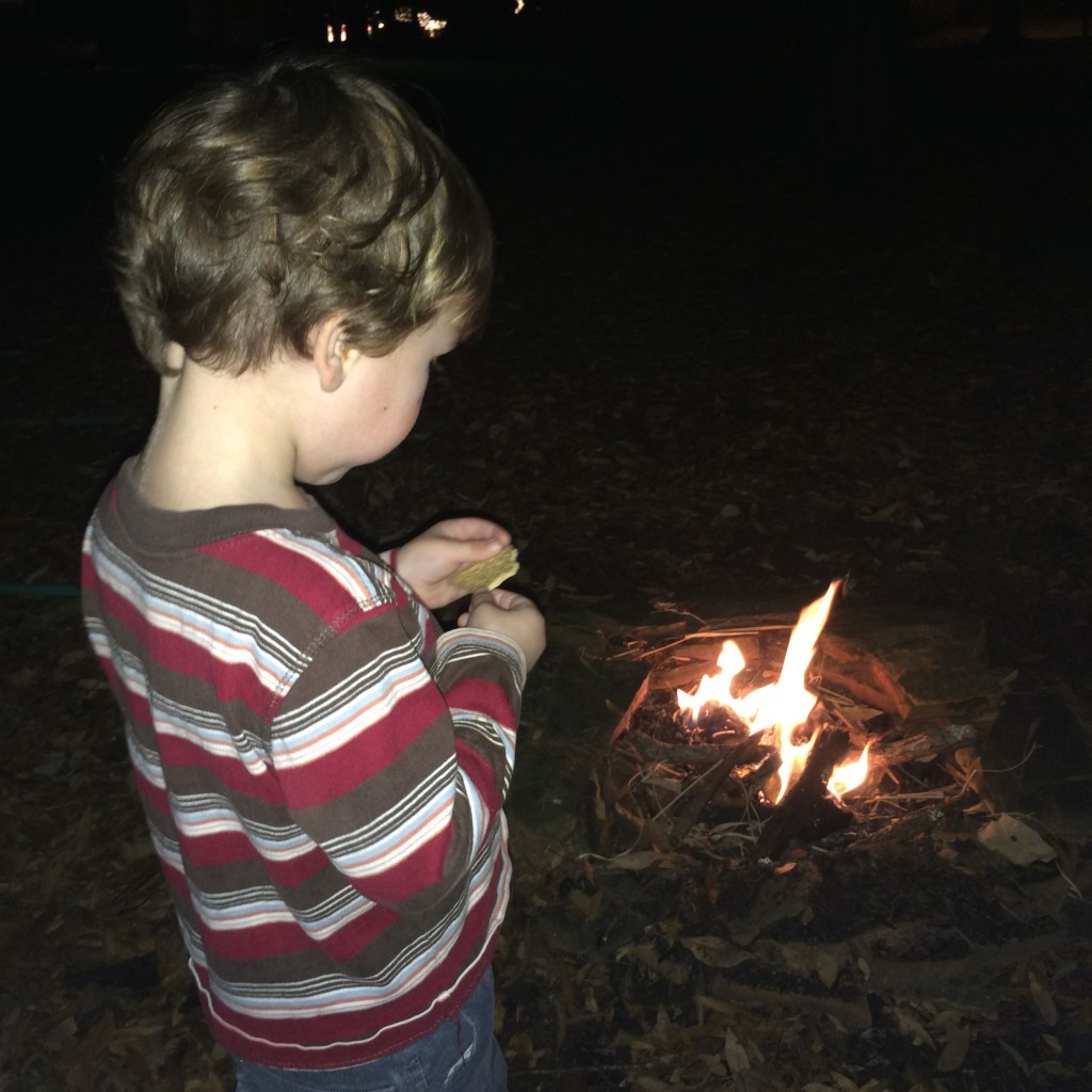 Enjoying s'mores