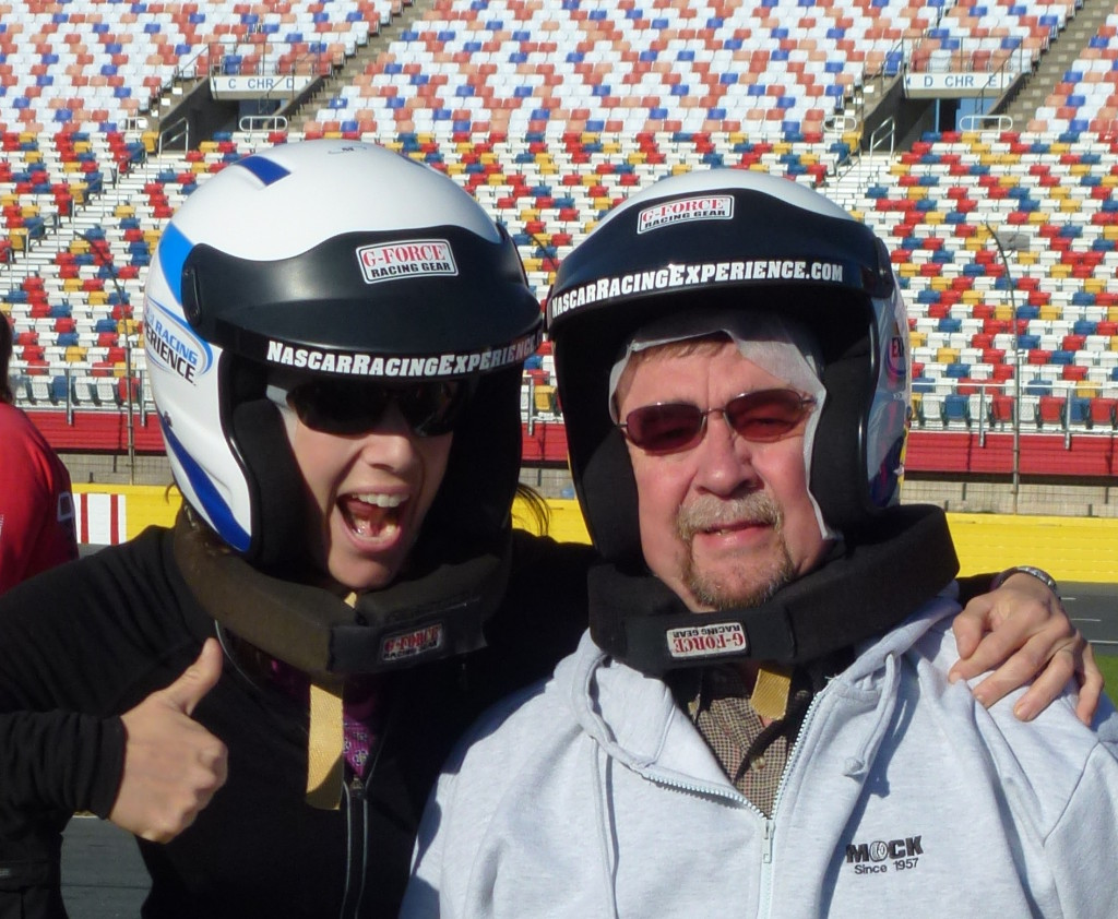 Dad and I on the NASCAR circuit!