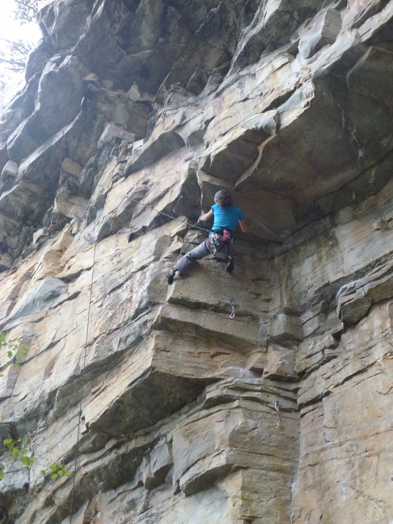 Working up the dihedral of Blind Velvet (5.11b)