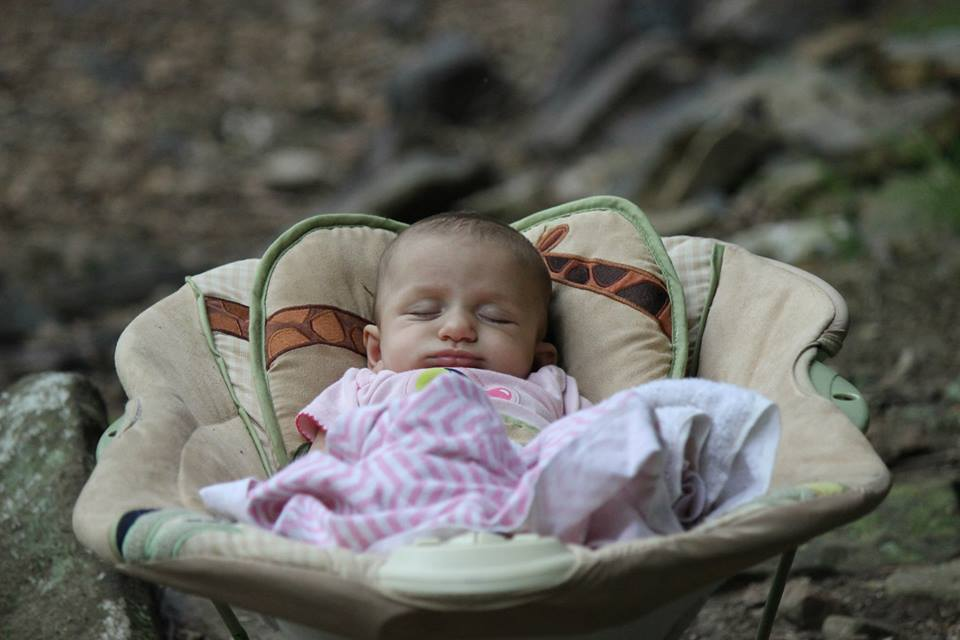 Cragbaby #2 relaxing at Lilly Bluff (Photo: Joe Virtanen)