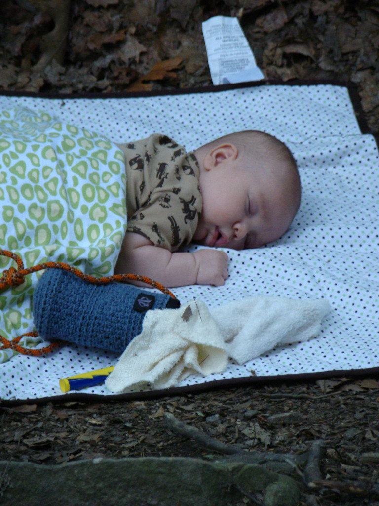 Here's a throwback shot to Big C catching some zzz's on his first trip to the New River Gorge at 10 weeks old!