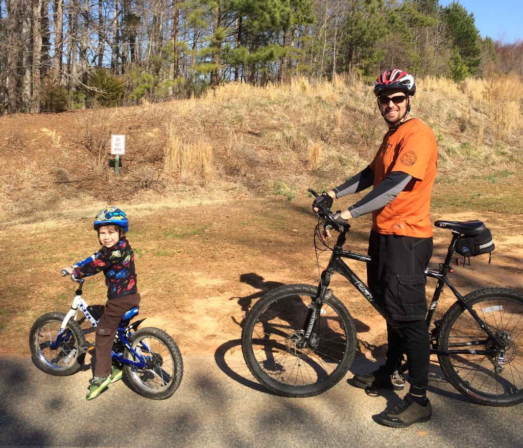 Hittin' the trail with Daddy