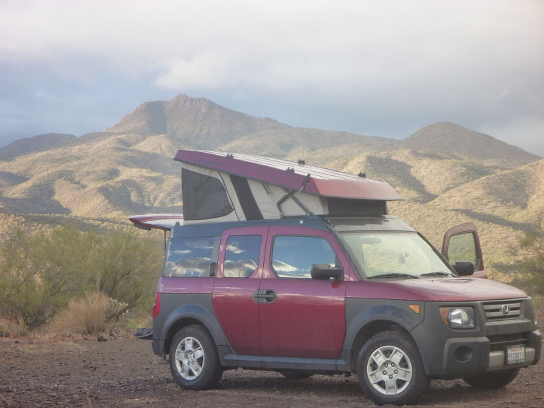 Joe Disciullo's pimped out Honda Element is perfect for climbing road trips!