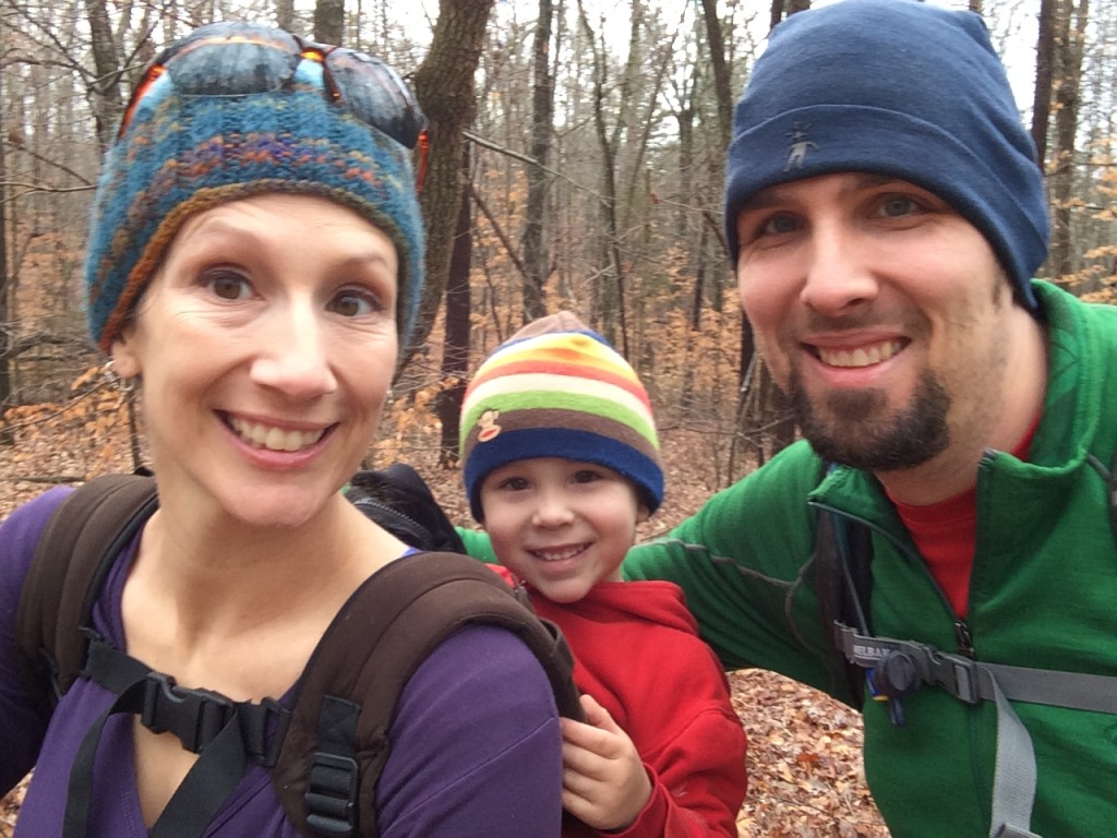 Family selfie taken on a holiday hike