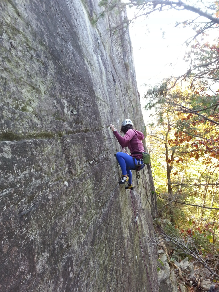 Smearing on the thinny-thin out at Hawksbill Mountain