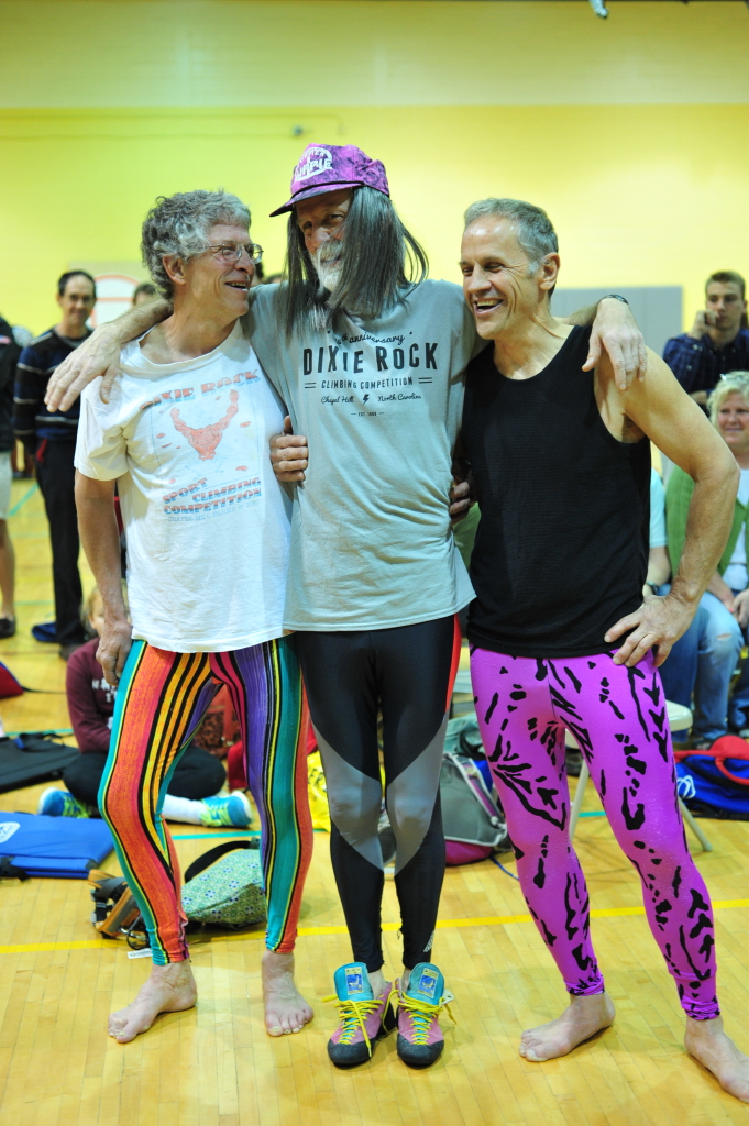 3 NC old-schoolers bringin' back their cutting edge 80's fashions at the Dixie Rock Climbing Comp last year...
