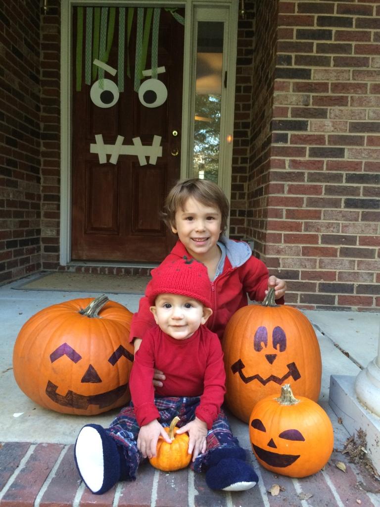"""Pumpkins...and the """"Franken-door."""""""