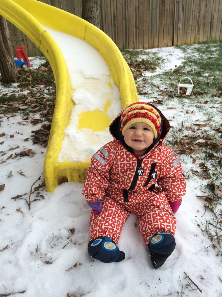 """I'm rockin' big brother's gloves on my feet!"""