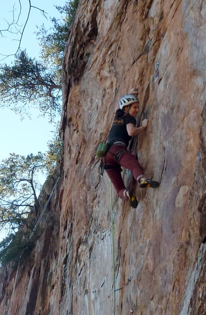 Last move of the upper crux