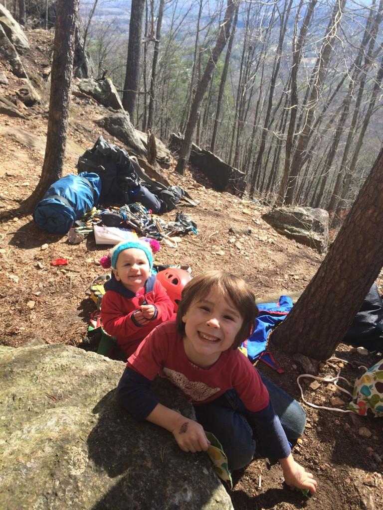 Happy kiddos at the  crag!