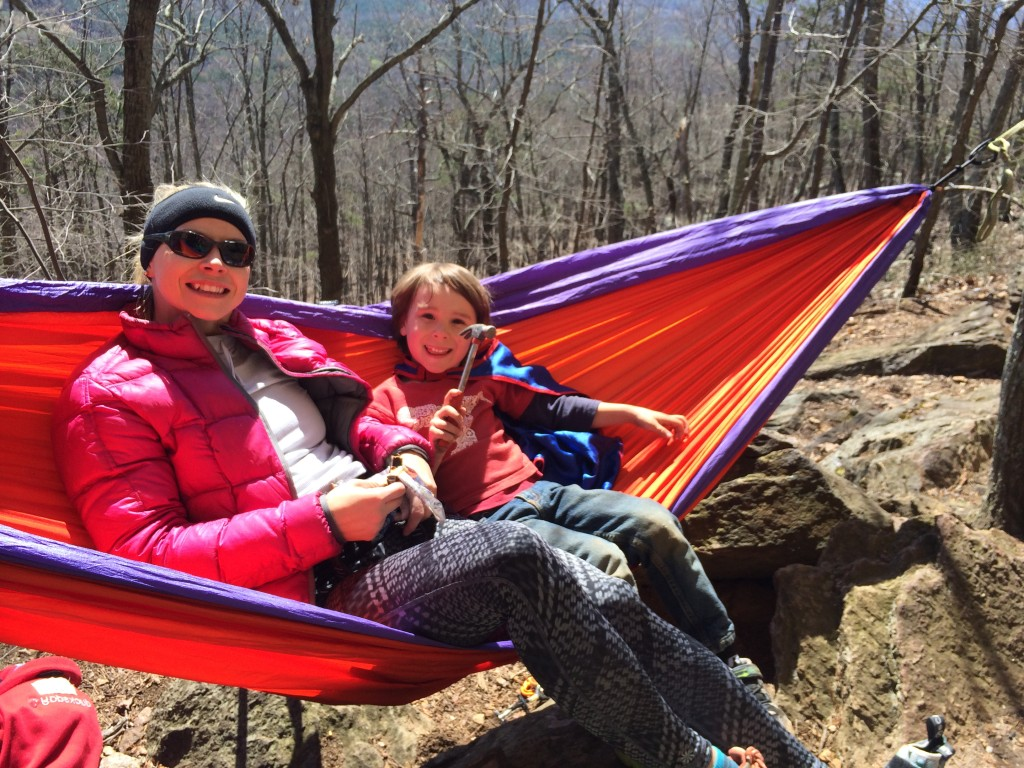 Big C enjoying some time with April, one of his fave climbing partners!