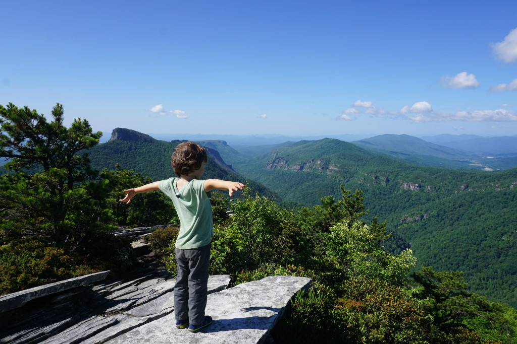 Breathtaking views at the top of Hawksbill Mountain!