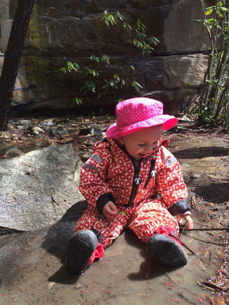 My rock princess sitting in a mud puddle.