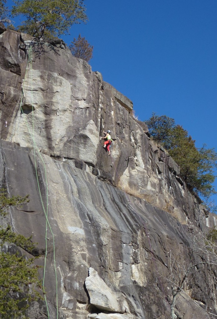 The Rocky Face slab wall - me on The General Lee 5.11