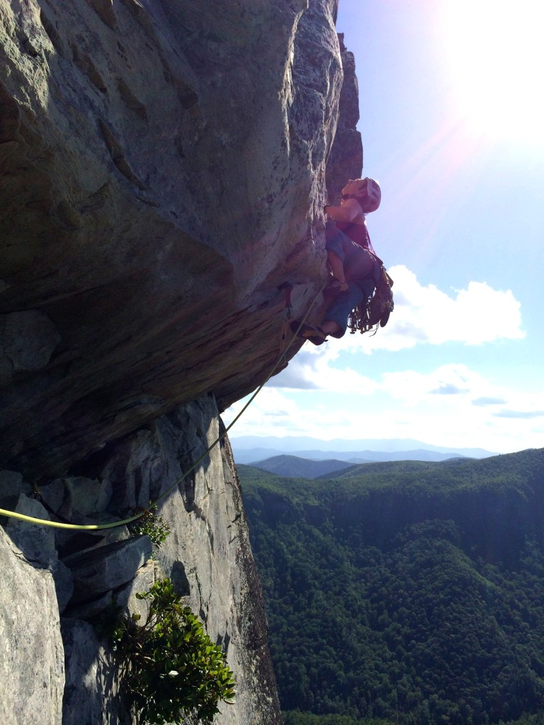 The infamous photo opp on the crux pitch!