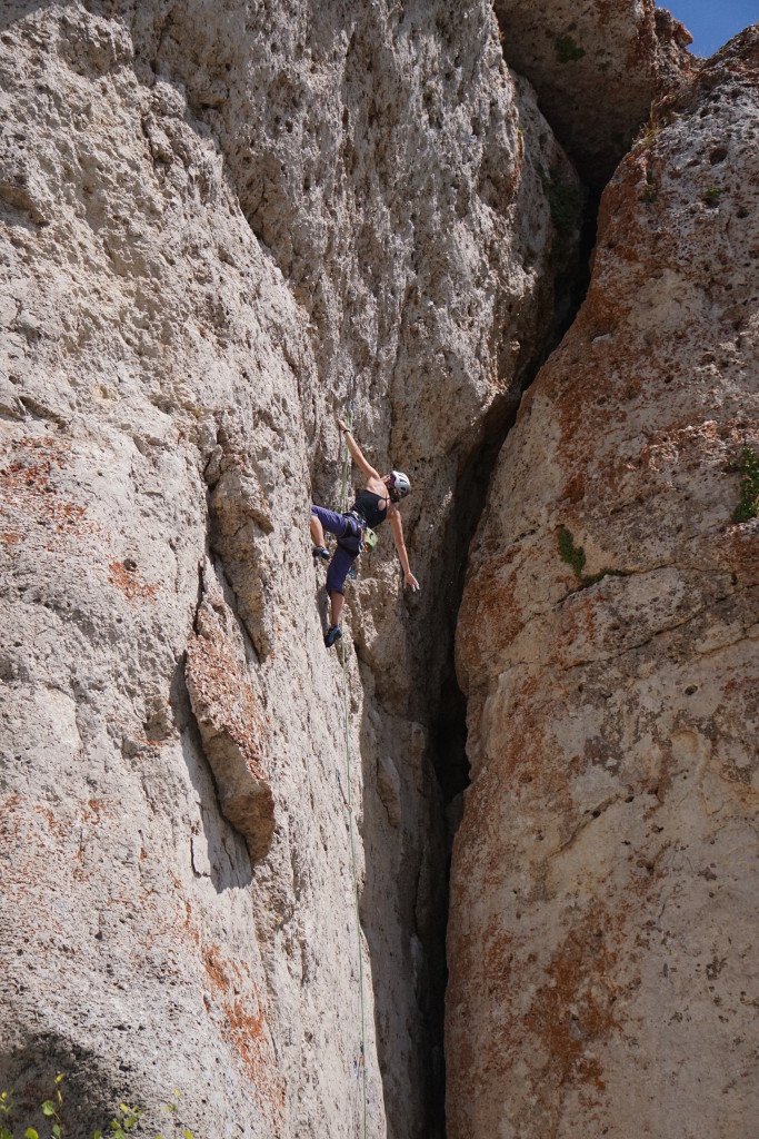 Me shaking out before the overhang on Tribal Wars 11b