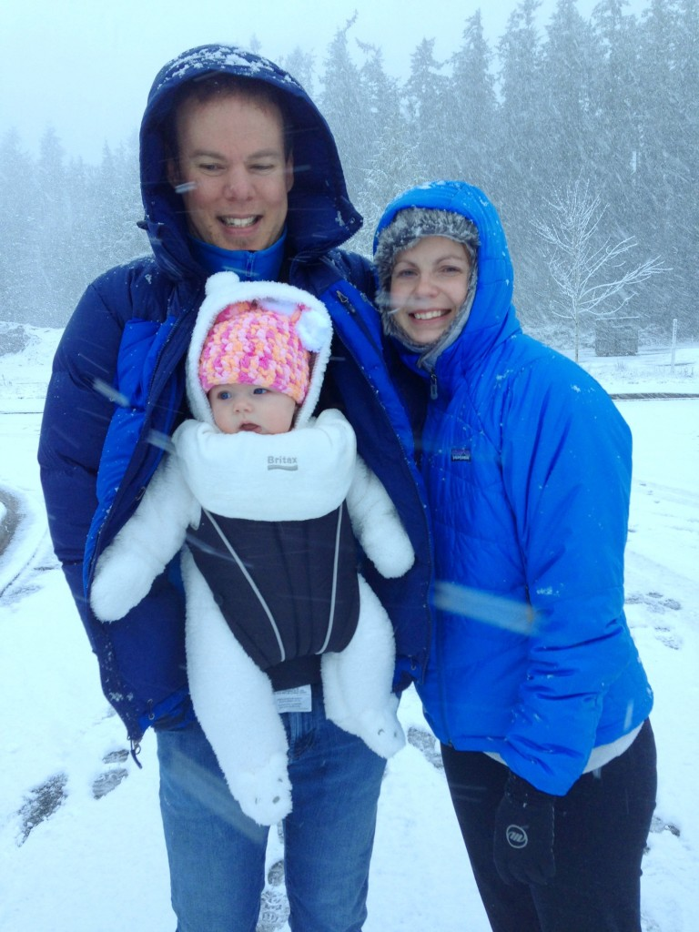 Kudos to Megan for getting her family outside in all types of weather!