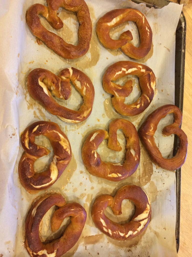And heart-shaped soft pretzels!