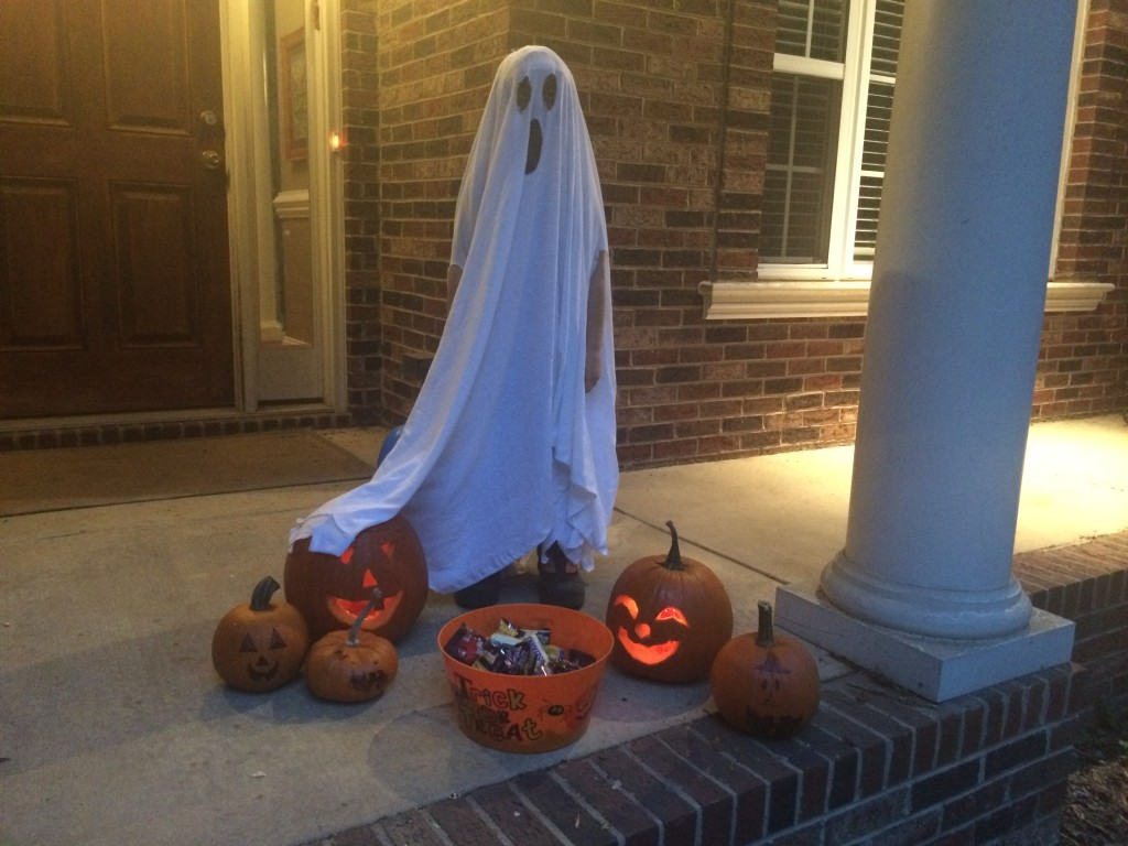 Big C's ghost costume
