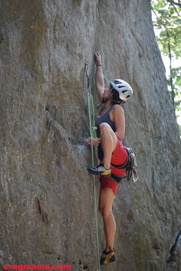 Standing tall on Stretch Armstrong (5.12a)
