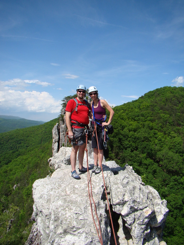 At the summit of Seneca's South Peak, circa 2009, just before getting pregnant w/Big C