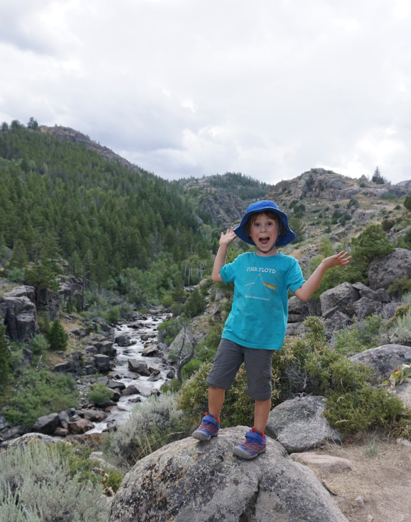 Big C psyched on the Popo Agie Falls Trail in Sinks Canyon, WY