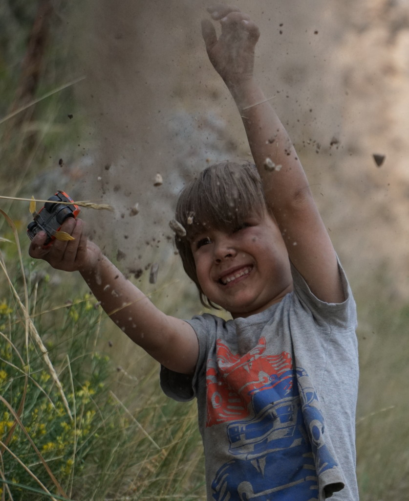 Happiness in dirt.  :)