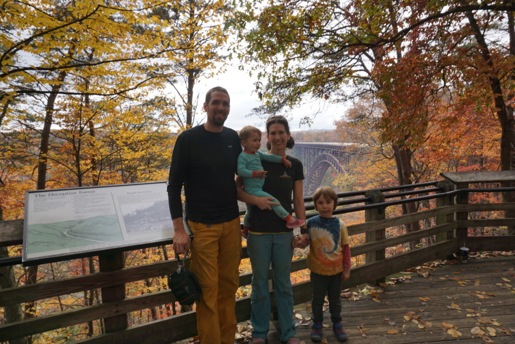 Family photo opp at the overlook