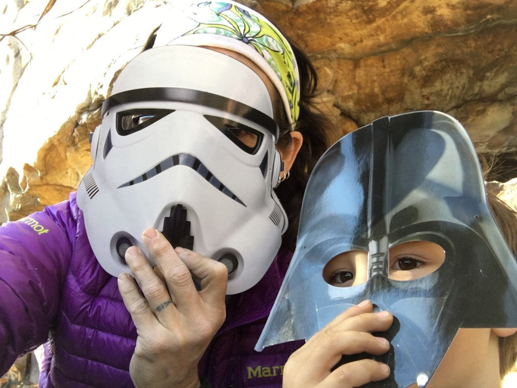 A little Star Wars fun at the crag