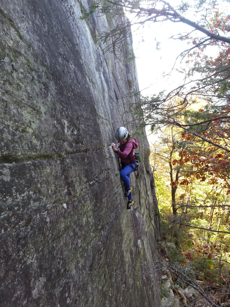 Tenaya Tarifa in action out in the Linville Gorge
