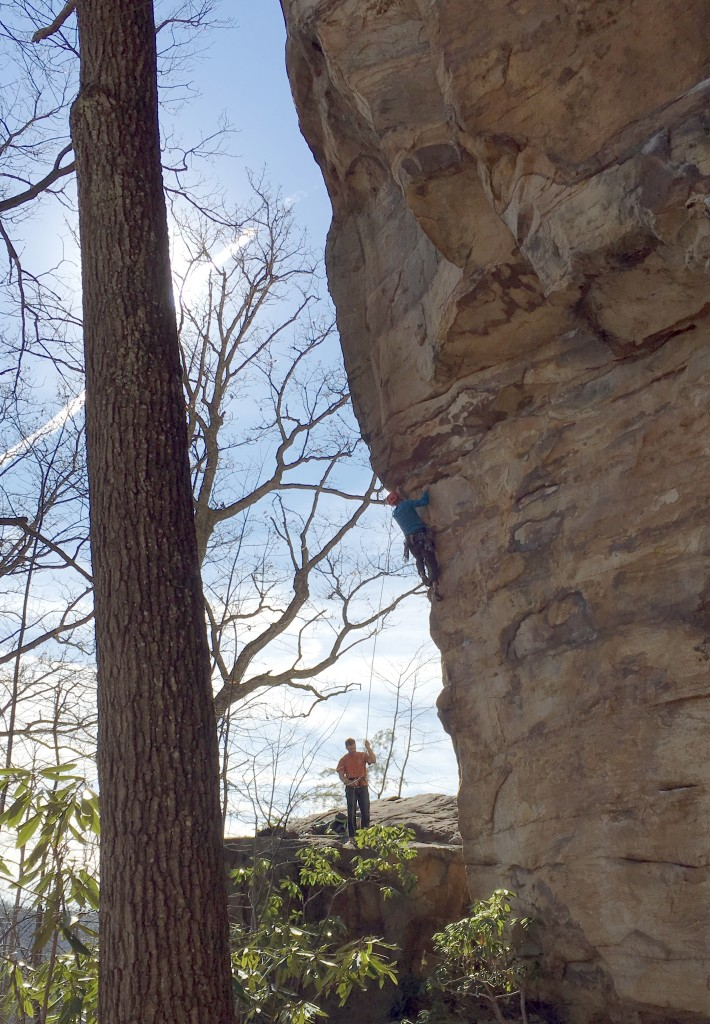 CragDaddy tackling Jesus and Tequila 12b...more on that below