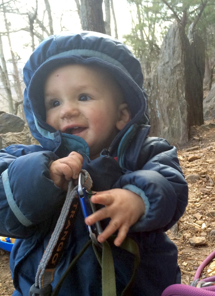11 months old at Crowders Mountain, February 2015