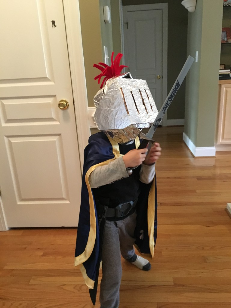 My knight, er...helmet, in shining armor.