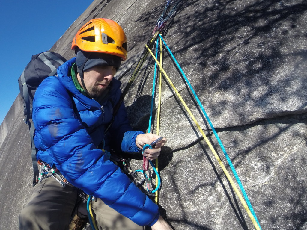 CragDaddy manning the upper belay station.