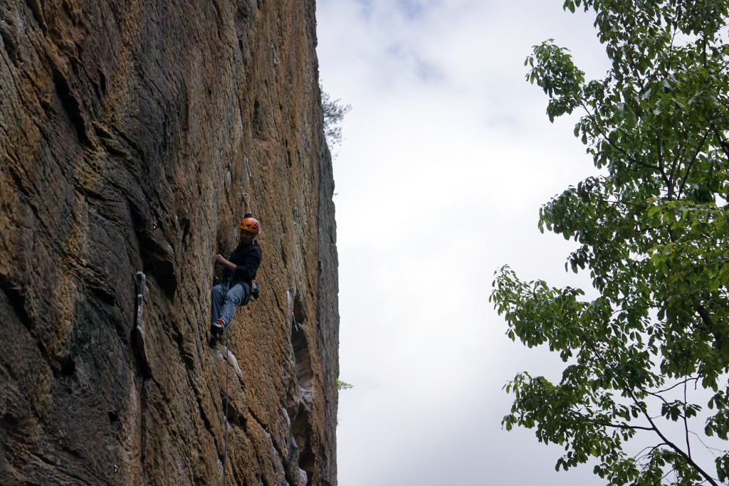 The CragDaddy getting oh-so-close on Abiyoyo 12b