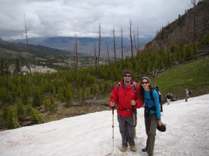 Snowfields on the Bunsen Peak Trail