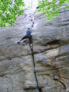 """Getting some tips from """"Trango"""" owner Malcolm Daly"""